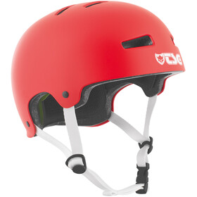 TSG Evolution Solid Color Helmet satin fire red